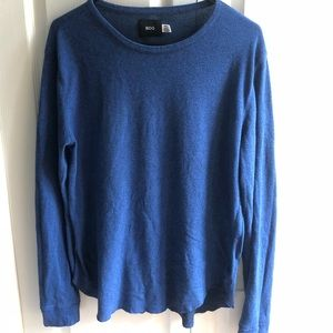 Urban outfitters blue long sleeve scallop bottom